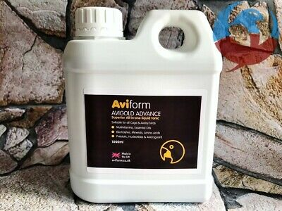 AVIFORM AVIGOLD ADVANCE 1000ml ALL IN ONE LIQUID TONIC PIGEONS & CAGE BIRDS YBS