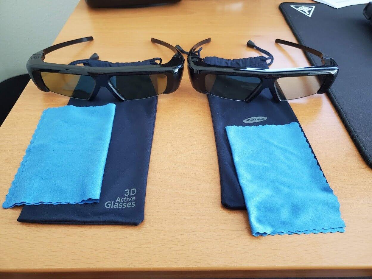 PAIR Of Samsung SSG-P2100T/ZA 3D Active Glasses - $24.99