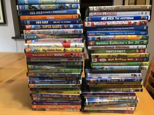 HUGE RANDOM DVD LOT OF 100 KIDS-CHILDREN DVDS - DISC ONLY -BULK WHOLESALE LOT