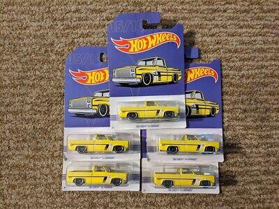Hot Wheels 2019 Walmart Truck Series '83 Chevy Silverado Lot of 5