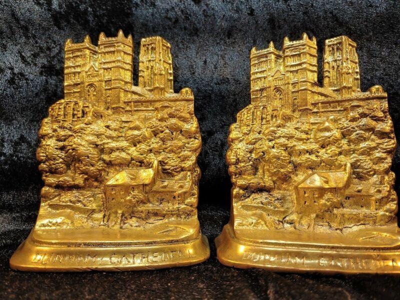 Durham Cathedral Cast Bronze Bookends Souvenir Building