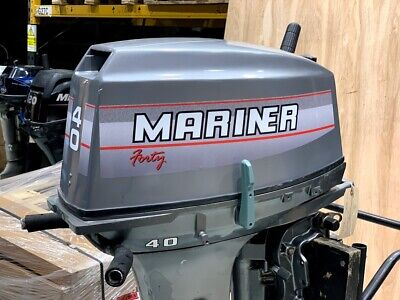 Used Mariner 40hp 2 Stroke Outboard Manual Start, Long Shaft Tiller Engine