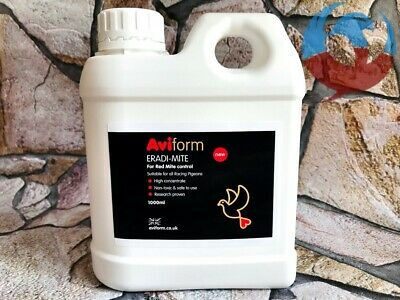 AVIFORM ERADI-MITE 1000ml RED MITE LICE FLEAS CONTROL PIGEONS BIRDS RACING CAGE