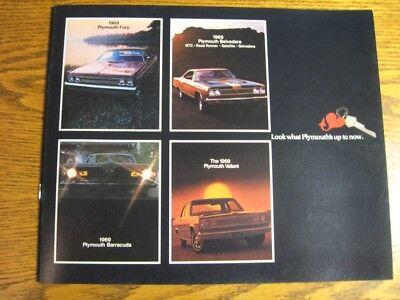 1969 Plymouth Brochure, Roadrunner GTX Barracuda Cuda Mopar Hemi Road Runner