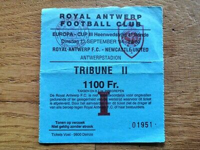 Ticket Antwerp FC - Newcastle United Uefa Cup 1994/95