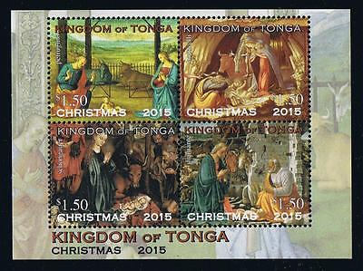 Tonga 2015 Christmas Stamp Issue Souvenir Sheet