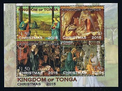 Tonga 2015 Christmas Stamp Issue Souvenir Sheet