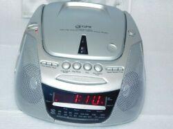 GPX D715 Compact Disc AM/FM stereo dual alarm clock radio W/ Manual