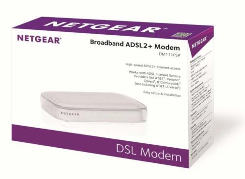 NETGEAR ADSL2+ Broadband DSL Modem White DM111PSP-100NAS