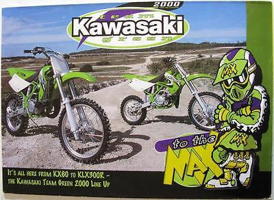KAWASAKI Team Green KX60 - KLX300R Motorcycle Sales Brochure 2000 #99985-101-CUR
