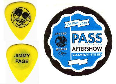 GUITAR PICK - JIMMY PAGE - 1999-2000 BLACK CROWES TOUR PICK & PASS -LED ZEPPELIN