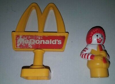 Fisher Price Little People Ronald McDonalds sign for playset rare figure parts