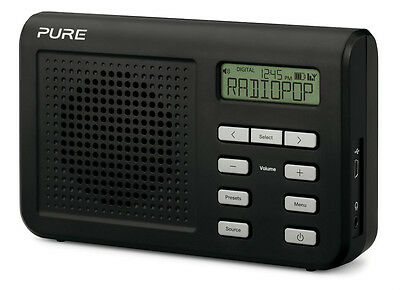 Pure One Mi Series II DAB FM Digital Portable Radio Black