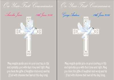 Personalised On Your Fist Communion Day A4 print. Perfect gift for boy or girl - Communion Gift For Boy