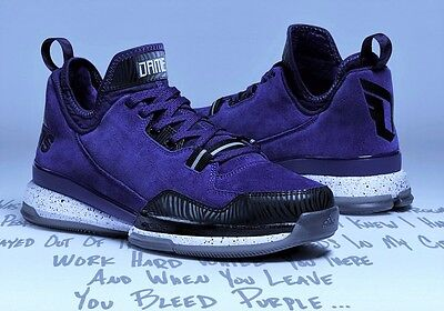ADIDAS DAMIAN D LILLARD BASKETBALL TRAINERS SHOES SUEDE UK SIZE 7 - 12.5