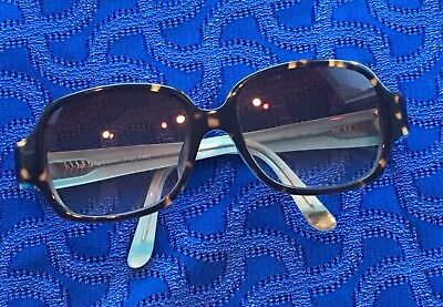 Juicy Couture Women's Tortoise Shell Plastic Sunglasses Aqua Inside 566 F/S