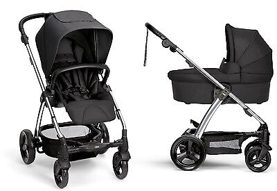 Mamas & Papas 2016 Sola 2 Stroller and Bassinet in Black Brand New Free Shipping for sale  Shipping to South Africa