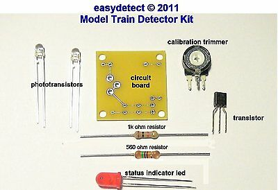 S SCALE HIDDEN STAGING DETECTOR KIT FOR HIDDEN OR UNSEEN TRAIN YARDS