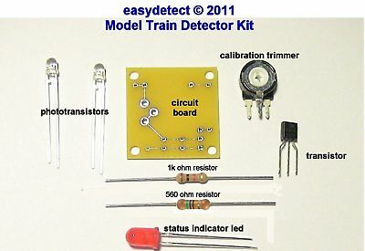 MODEL TRAIN DETECTOR KIT FOR CROSSING FLASHER ACTIVATION AND MORE - Model Train Crossing