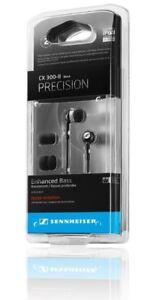 Sennheiser CX300-II Bass Driven Headphones Noise Isolating Earbuds-Black