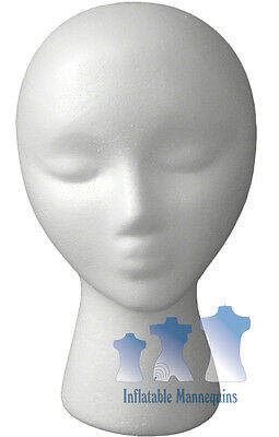 Female Head Styrofoam White