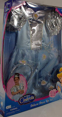 Disney Princess Dress Up Set (Disney Princess Cinderella Child Costume Dress Up Set - 2005 - Hard to)