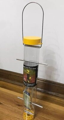 """Droll Yankees Upside Down Gold Finch Bird Feeder, 16"""" Yellow Unwanted Gift New"""