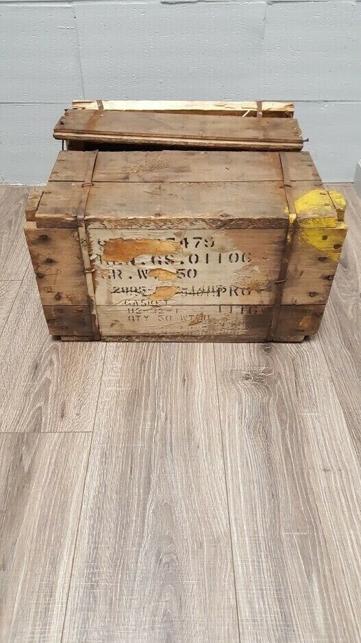 WWII Era Harley-Davidson Gasket Empty Crate Memorabilia Collector Rare