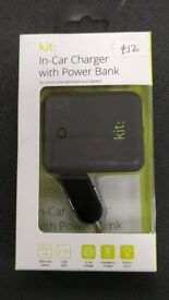 In car charger & power bank