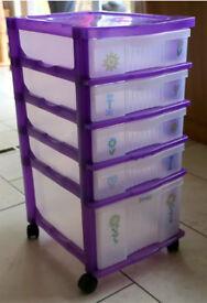 Plastic wheeled CRAYOLA drawers set