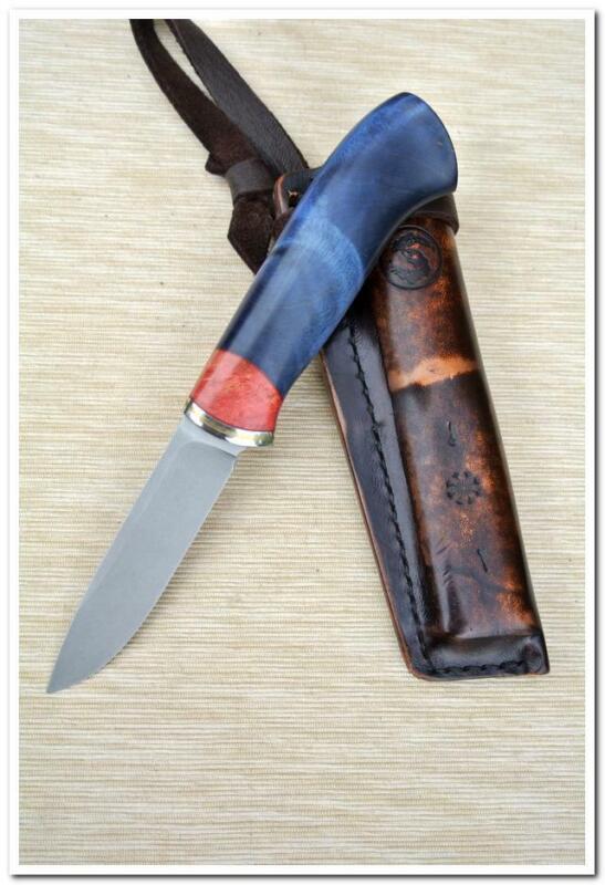 Handmade bushcraft hunting camping knife 95mm, M390 stainless steel