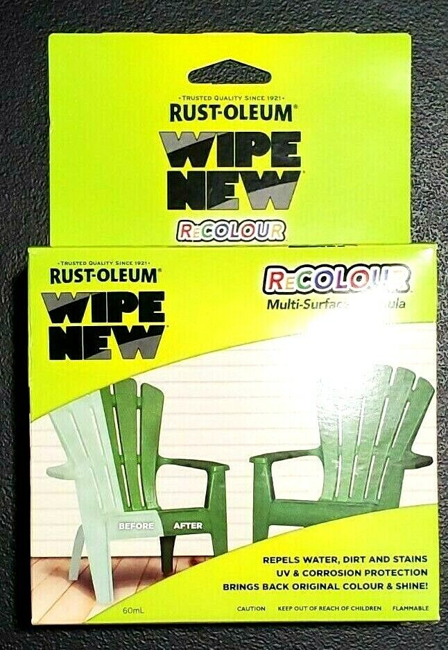Rust-Oleum Wipe New Recolor Multi-Surface Formula Plastic Metal Vinyl – 6 Wipes Building & Hardware