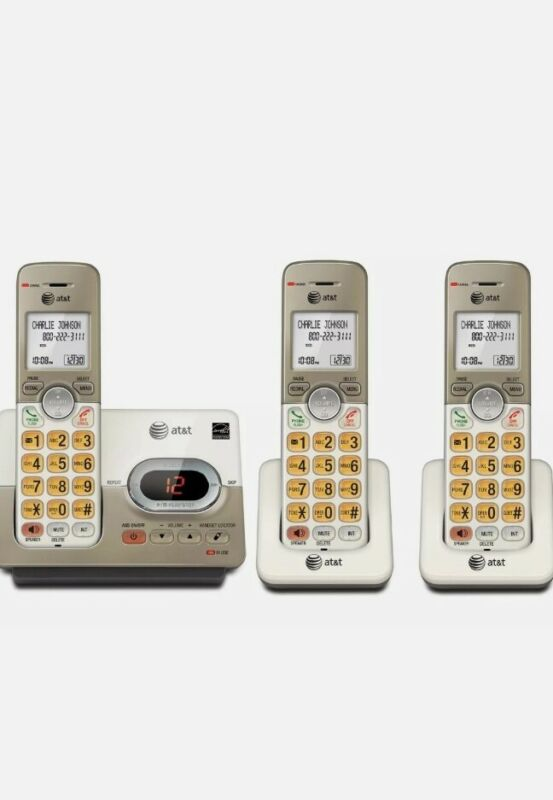 AT&T EL52313 3-Handset Expandable Cordless Phone W Answering System & Caller ID