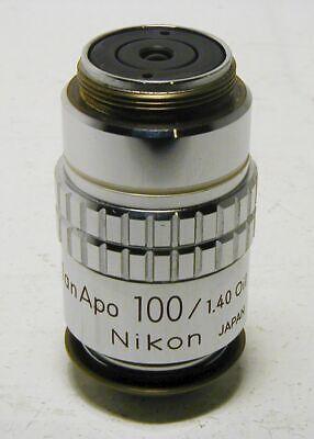 Nikon Planapo 100x 160mm Microscope Objective Excellent Condition