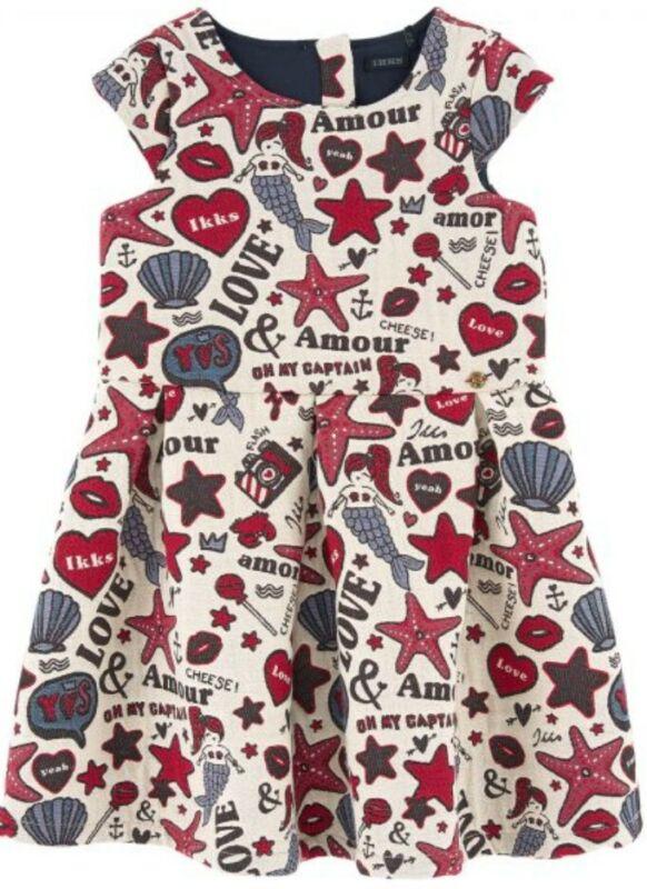 IKKS Girls Jacquard Mermaid Dress Size 108