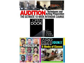 Courses and classes: acting courses/art classes/english language class