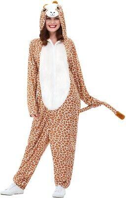 Giraffen Kostüm Braun mit Kapuzen Jumpsuit Giraffe Costume - Gold Jumpsuit Kostüm