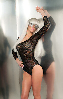 Sexy Lady Gaga Music Lace Bodysuit Leotard Costume Licensed Halloween ()