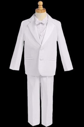 Boys Baptism,Suit, bow tie White, M( 6-12 mth),L(12-18 mth) XL (18-24mt)