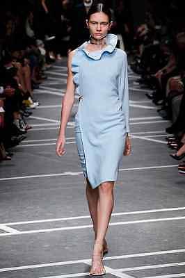 RETAIL $4365 NWT Givenchy Blue Single Sleeve Ruffle Dress COCKTAIL SIZE EU 40