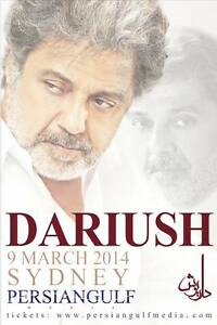 DARIUSH LIVE IN CONCERT SYDNEY 2016 بلیط کنسرت داریوش در سیدنی Hornsby Hornsby Area Preview