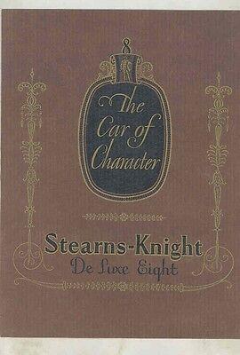 1930 Stearns Knight Deluxe Eight Prestige Brochure wv0117
