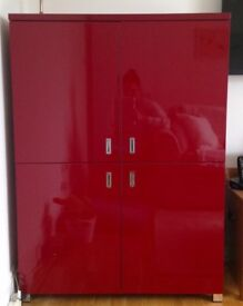 High Gloss Red Cabinet - Very good condition