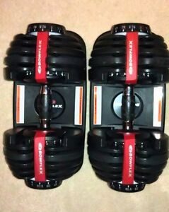 Bowflex 552 Dumbbells and bench