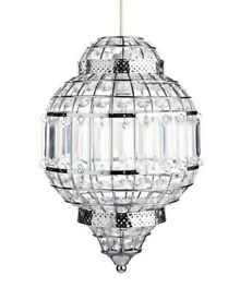 Malika crystal effect easy fit ceiling light