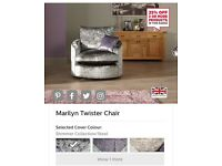 Marilyn Fabric Twister Chair for sale