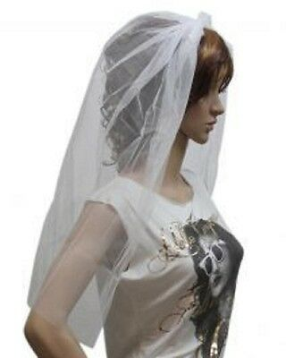 Zombie Burlesque Halloween (FANCY DRESS HALLOWEEN PARTY WHITE VEIL ZOMBIE BRIDE BLOOD HEN NIGHT HEAD)