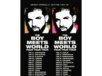 DRAKE BOY MEETS WORLD TOUR MANCHESTER TICKETS