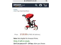 Little Tiger Dash Red/Black Trike Baby Toddler