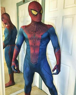 Amazing Halloween Outfits (The Amazing Spiderman Tights Halloween Cosplay Costume Zentai Jumpsuit)